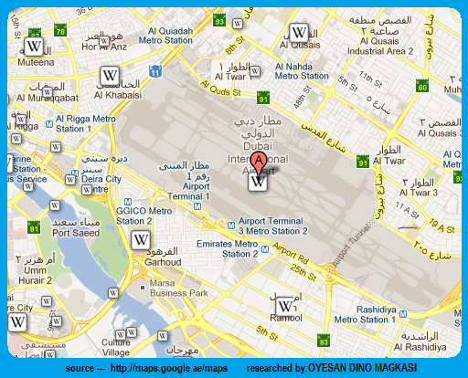 Dubai Airport Map Dubaicreektower